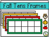 Tens Frames - Fall Themed