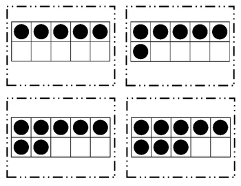 Tens Frames Flash Cards 1-20