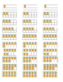 Tens Frames Labels for Instant Math Stations