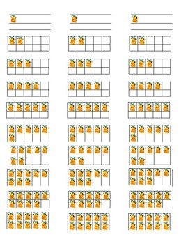 Tens Frames Labels for Instant Math Stations