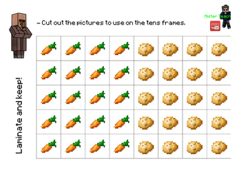 Tens Frames (Minecraft Maths)