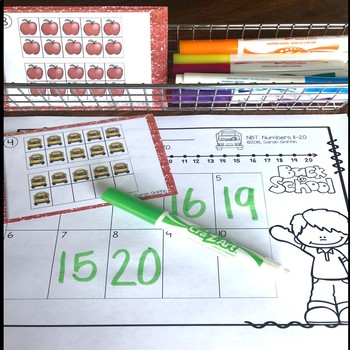Tens Frames - Numbers to 20 ~ Back to School Math Center ~ Task Cards
