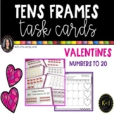 Tens Frames - Numbers to 20 ~ Valentines Day Math Center ~ Task Cards