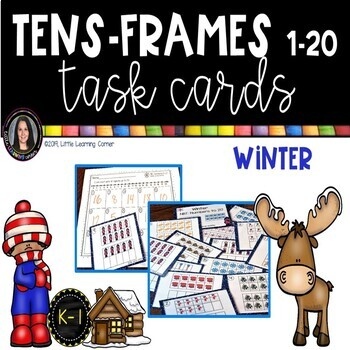 Tens Frames - Numbers to 20 ~ Winter Math Center ~ Task Cards