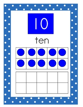 Tens Frames Posters Numbers 0-20