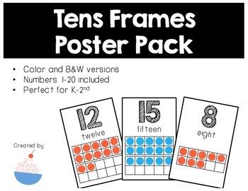 Tens Frames Posters Numbers 1-20