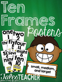 Ten Frames Posters {small, medium, and large!}