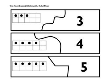 Tens Frames Puzzles 0-20