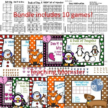 Tens Frames Subtraction {BUNDLE}