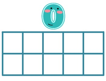 Tens Frames with Numbers Posters 0-10