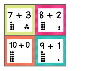 Tens Friends - Addition Flash Cards