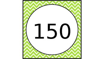 Tens - From 10 through 150