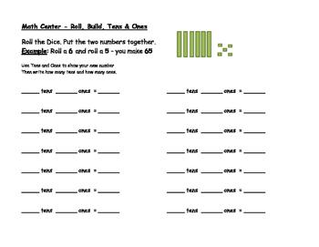 Tens & Ones Math Center