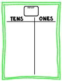 Tens & Ones Place Value Mat