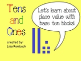 Tens & Ones Place Value Math SmartBoard Lesson for Primary Grades
