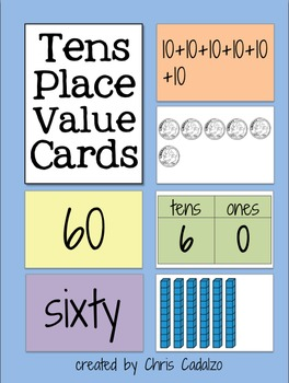 Place Value Cards- Tens