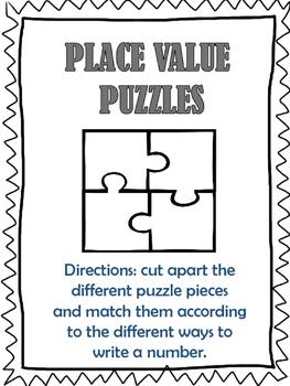 Place Value Puzzles-Tens place