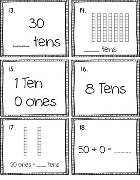 Tens Place Value Scoot