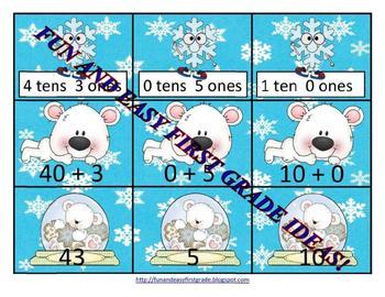 Tens Plus Ones Snowy Fun (Common Core Aligned)