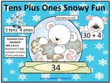 Tens Plus Ones Snowy Fun (Common Core Aligned)