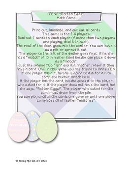 """Tens """"Rotten Eggs"""" (Go Fish)"""