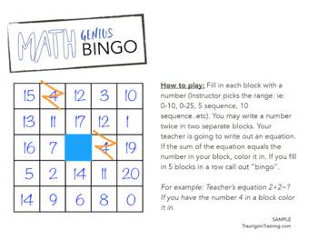Tens Sequence Bingo