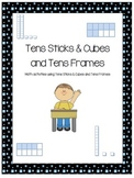 Tens Sticks & Cubes  and Tens Frames Practice