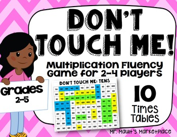 Tens Times Tables: Don't Touch Me! Multiplication Fact Fluency Game