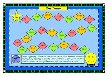 Tens Twister - Adding a Ten Maths Game