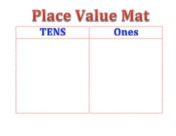 Tens and One Place Value Mat