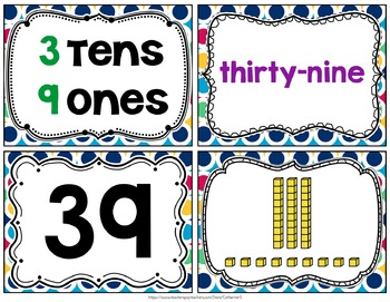 Tens and Ones Task Cards