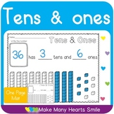 Tens and Ones One Page Mat
