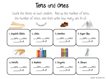 Tens and Ones - A Hands-On Place Value Activity