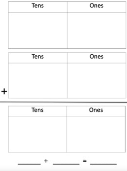 Tens and Ones Addition Mat