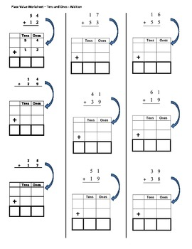 tens and ones addition place value by brenda richards tpt. Black Bedroom Furniture Sets. Home Design Ideas