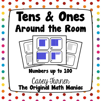 Tens and Ones Around the Room: Numbers up to 100