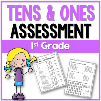 Tens and Ones Assessment 1st Grade