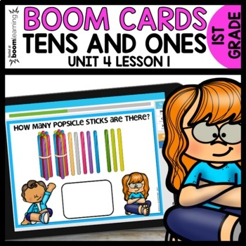 Tens and Ones BOOM CARDS | DIGITAL TASK CARDS | Module 4 Lesson 1