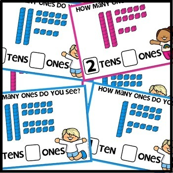 Tens and Ones BOOM CARDS   DIGITAL TASK CARDS   Module 4 Lesson 23