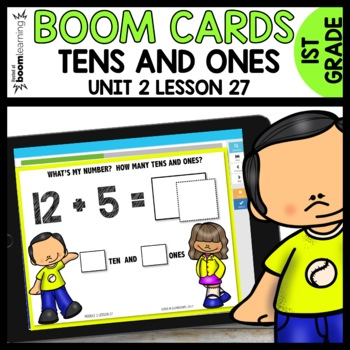 Tens and Ones BOOM CARDS [Module 2 Lesson 27]