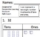 Tens and Ones Base Ten Common Core Cooperative Learning Practice Sheet
