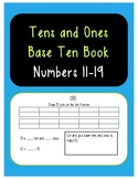 Tens and Ones Base Tens Book: Numbers 11-19