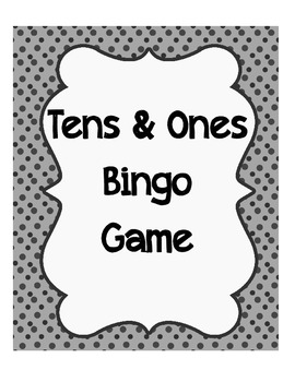 Tens and Ones Bingo Math Game