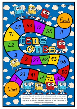 Tens and Ones Board Game