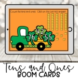 Tens and Ones Boom Cards for Kindergarten | St. Patrick's Day