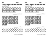 Tens and Ones Bundling Worksheet