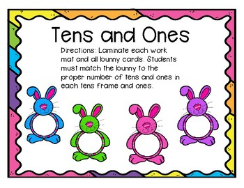 Tens and Ones Bunny Workmats
