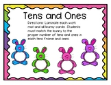 Tens and Ones Bunny Workmats