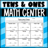 Tens and Ones Center Activity! Uses Manipulatives!