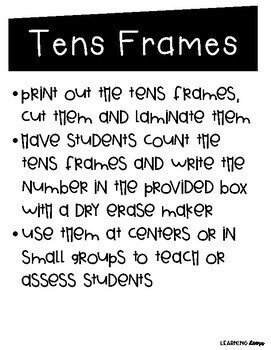 Tens and Ones Centers